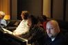 "Music editors Paul Apelgren and ""Stone Cold"" Steve Davis"