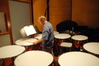 Don Williams sweats it out on the timpani