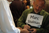 Marc Shaiman decides to sign while people wait in line