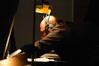 Randy Kerber prepares the piano