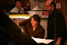 David Newman goes over a cue with pianist Randy Kerber