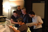 Solving a ProTools crisis with Jim Hill, mix assistant Patrick, and intern Chris Beckstrom