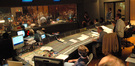 View from the control room of the ASCAP Film Scoring Workshop scoring session
