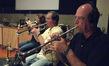 Marissa Benedict, Jon Lewis and Jim Grinta on trumpet