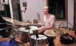 Nate Wood on drum kit