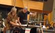 Music librarian Mark Graham and composer Alan Silvestri