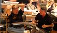 Director Robert Zemeckis and composer Alan Silvestri share a laugh over a joke