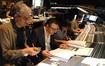 Orchestrator Steve Bartek, additional music composer Lior Rosner, composer Stephen Trask, and scoring mixer Greg Hayes