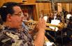 Rick Baptist plays trumpet
