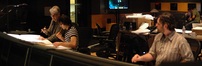 Orchestrators Steve Bartek, composer Stephen Trask, and scoring mixer Greg Hayes