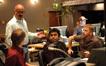 Orchestrator Kaz Boyle, supervising music editor Jim Weidman, composer A.R. Rahman and Peter Billingsly
