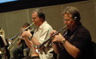 Jon Lewis and Dave Washburn on trumpets