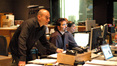 Music editor Joe Lisanti, score preparation supervisor Gary Krause, and ProTools recordist Vinnie Cirilli
