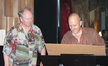 Film composer George S. Clinton and Carondelet Music Group partner Jay Weigel at the scoring session for <i>Extract</i>