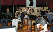The musicians at composer George S. Clinton's scoring session for <i>Extract</i>