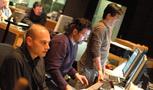 Music editors Joe Lisanti and Gary Krause, and ProTools recordist Larry Mah