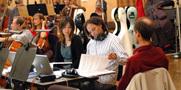 Orchestrators Dana Niu, Robert Elhai and Andrew Kinney