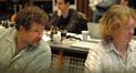 Scoring mixer Frank Wolf and stage engineer Charlie Pakaari
