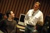 Arranger Todd Haberman talks with dialog/music re-recording mixer Mark Fleming