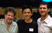 Scoring mixer Frank Wolf, actor John Cho and composer Ramin Djawadi