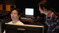 ProTools recordist Larry Mah and assistant music editor Jeannie Lee Marks