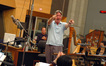 Composer Alan Silvestri thanks the orchestra