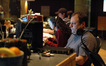 Assistant music editor Alexandra Apostolakis and music editor Steve Davis