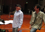 Sid Krofft with composer Michael Giacchino at the choir session
