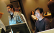 Music editor Gary Kraus and ProTools recordist Larry Mah