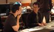 Composer Jim Dooley talks with scoring mixer Steve Kaplan