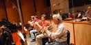 Joe Meyer, Paul Klintworth, Marty Rhees and Steve Durnin play French horn