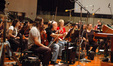 The string section, led by John Wittenberg
