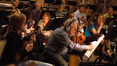 Concertmaster Endre Granat and the strings