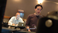 Music editor Pete Snell and composer Steve Jablonsky