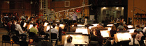 Nick Glennie-Smith conducts the string section
