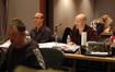 Scoring mixer Chris Fogel, orchestrator Randy Kerber and composer Theodore Shapiro