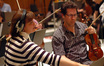 Concertmaster Belinda Broughton and the strings
