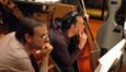 The cellos examine a cue