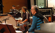 Wade Culbreath, Brian Kilgore, Mike Englander play percussion