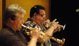 David Washburn and Rick Baptist on trumpet