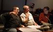 Composer Christopher Lennertz with agent Richard Kraft and music editor Will Kaplan