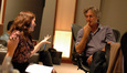 Composer Deborah Lurie talks with director Lasse Hallstrom