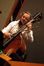 Mike Valerio plays bass