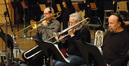 Alex Iles, Bill Booth and Phil Teele on trombone