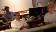 Director Tom Dey, composer Christopher Lennertz, ProTools recordist Kevin Globerman, and scoring engineer Jeff Vaughn