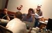 Producer John Davis, director Tom Dey, music editor Dan DiPrima, and composer Christopher Lennertz discuss a cue