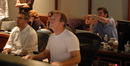 Chris Lennertz, scoring engineer Jeff Vaughn, and director Tom Dey