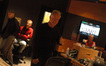 Composer John Debney gives the thumbs-up on a cue