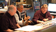 Composer George S. Clinton, director Michael Lembeck and scoring mixer Steve Kempster discuss a cue