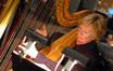 Gayle Levant on harp